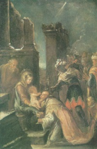 la adoración de los magos by josé antolinez