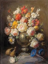 jarrón con flores by josé maría labrador arjona