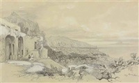 view of sorrento by edward lear