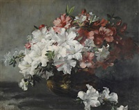 still life of flowers by frieda menshausen-labriola