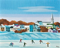 skaters, ste-florence, quebec by claude picher