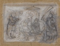 an illustration from a ramayana series: the coronation of rama by anonymous-indian (19)