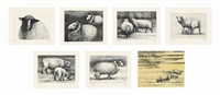 sheep (the complete portfolio including 12) by henry moore