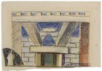bozzetto di scena per edipo re by enrico prampolini