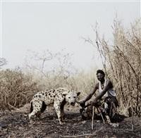 mallam galadima ahmadu with jamis, nigeria from gadawan kura - the hyena men ii by pieter hugo