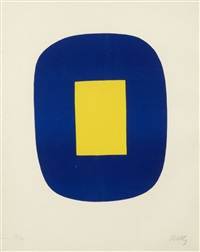 bleu et jaune by ellsworth kelly