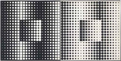 paar by victor vasarely