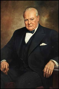 portrait of sir winston churchill by adam sherriff scott