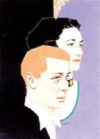 duke of windsor and mrs. simpson by richard amsel