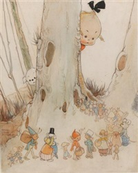 stopping for the little folk by mabel lucie attwell