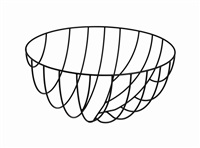 6200mm bowl from thin black lines by nendo