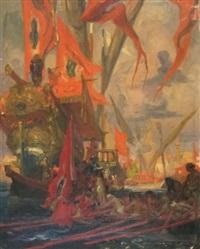 l'arrivée au port by dominique charles fouqueray
