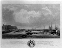 the departure of her majesty queen victoria with her royal consort albert and her royal children from fleetwood on wyre sept 21st 1847 by thomas picken