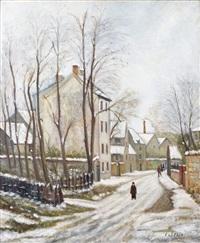 neige sur la ville by marcel françois leprin