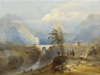 massed troops on calton hill by john wilson ewbank