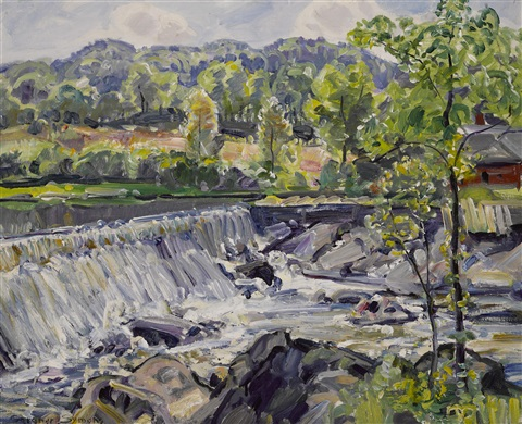 waterfall by george gardner symons