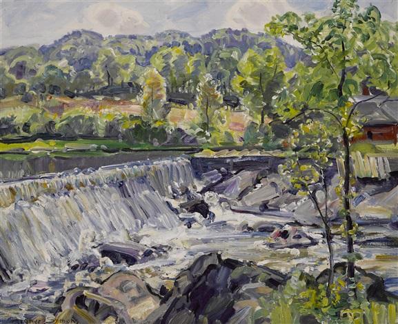 waterfall by george gardner symons