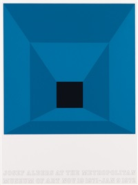 josef albers at the metropolitan museum of art (set of 4) by josef albers