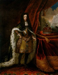 portrait of king william iii, standing beside a table, wearing an ermine cape by anglo-dutch school (18)