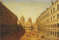 the courtyard of the doge's palace, venice, looking north by francesco albotti
