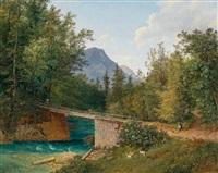 die brücke bei der rettenbachmühle nächst bad ischl by joseph feid