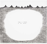 untitled (there is nothing in the desert) by david shrigley