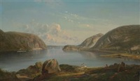 view of the narrows, hudson river, new york by ferdinand reichardt