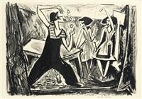 5. kestner-mappe, artisten (6 works) by franz huth