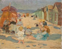 sur la plage (+ 2 others; 3 works) by augustus koopman