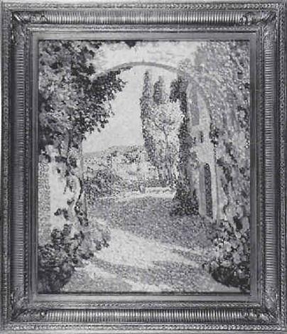 village en provence by eugène bégarat
