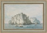 vue générale de l'isle de caprie by claude louis châtelet