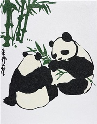 power of the panda (ancient chinese panda) by rob pruitt