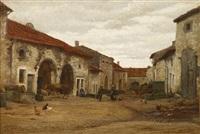 quiet day in the village by jean ferdinand monchablon