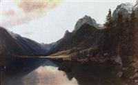 paisaje de montaña con r¡o by hans christian fischer
