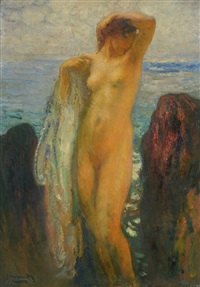 desnudo en las rocas by michel simonidy
