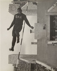 le sauteur cornelius johnson - jeux olympiques de berlin by leni riefenstahl