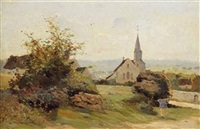 l'église du village by fernand (just) quignon