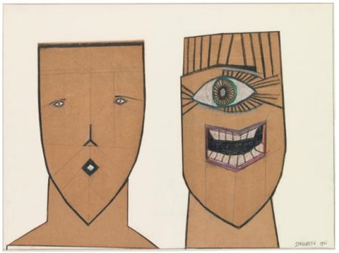 two masks by saul steinberg