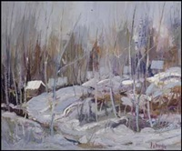 winter scene by fernand labelle