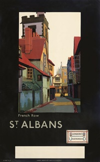 french row, st. albans (poster) by verney l. danvers