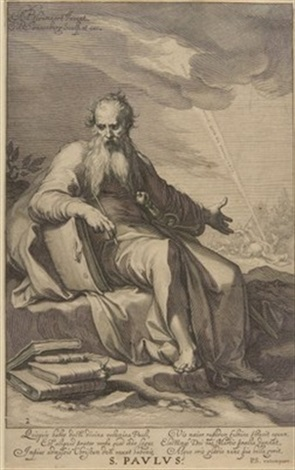 s paulus after abraham bloemaert by willem isaaksz swanenburgh the elder