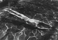 underwater swimmer, esztergom by andré kertész