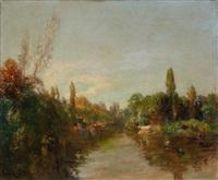 bord de rivière by lucien laurent-gsell