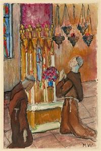 due monaci by marianne werefkin