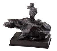 buffalo and cowboy by ju ming