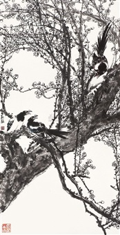 magpies and plum by liu yi