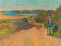 breton à la plage by jean bertrand pegot-ogier