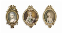 miniature portraits (3 works) by ignazio pio vittoriano campana