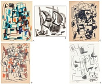 soyut kompozisyon (5 works) by nejad devrim