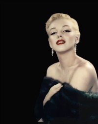 marilyn monroe in a mink stole by edward clark